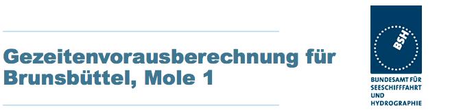 Getijden Brunsbüttel